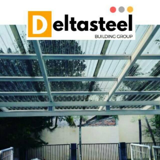 harga kanopi baja ringan atap polycarbonate transparan shopee indonesia