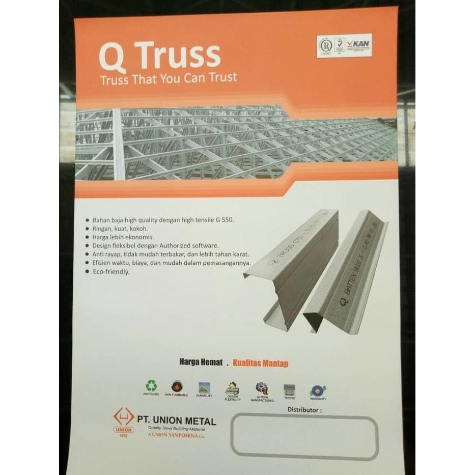 harga baja ringan merk trust union truss 0 75 mm shopee indonesia