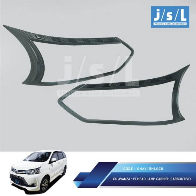 pilih grand new avanza atau great xenia 2015 paket garnish garnis list lampu depan belakang hitam motif carbon