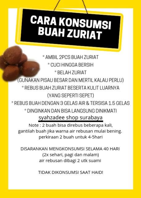 Cara Konsumsi Buah Zuriat : konsumsi, zuriat, TERLARIS, Zuriat, Kembar, Mesir, Termurah, Promil, Shopee, Indonesia