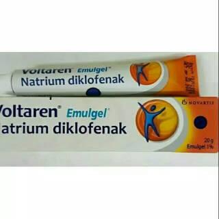 Voltaren emulgel Natrium Diklofenak 20 gr   Shopee Indonesia
