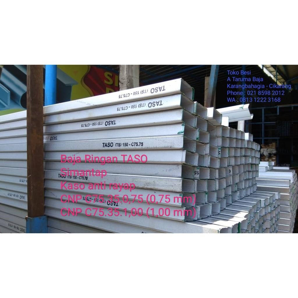 baja ringan merk cnp c truss 0 75 mm asli kanal zincalume