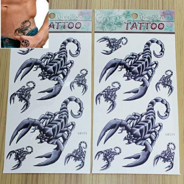 Cool Scorpion Temporary Tattoo Shopee Indonesia