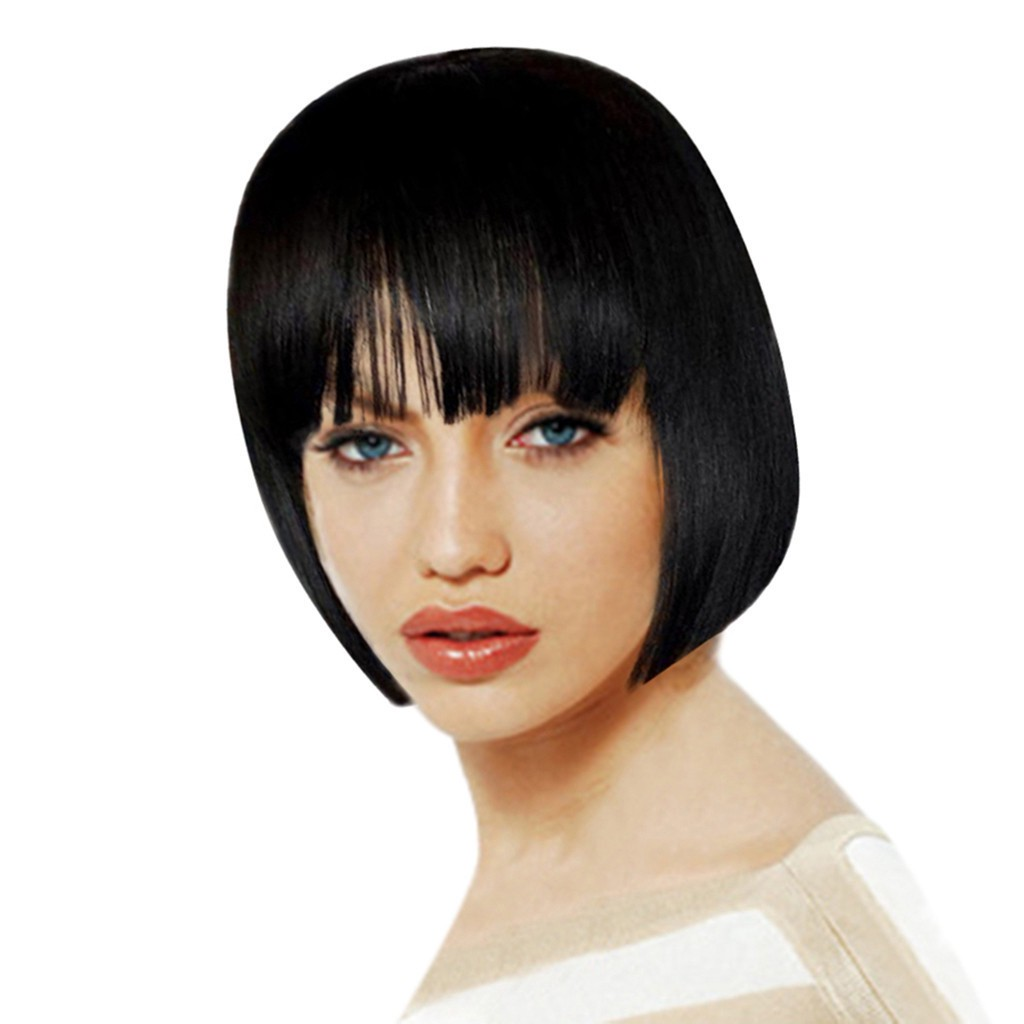 Synthetic Straight Short Bob Women S Wigs Black Natural Hair Wigs