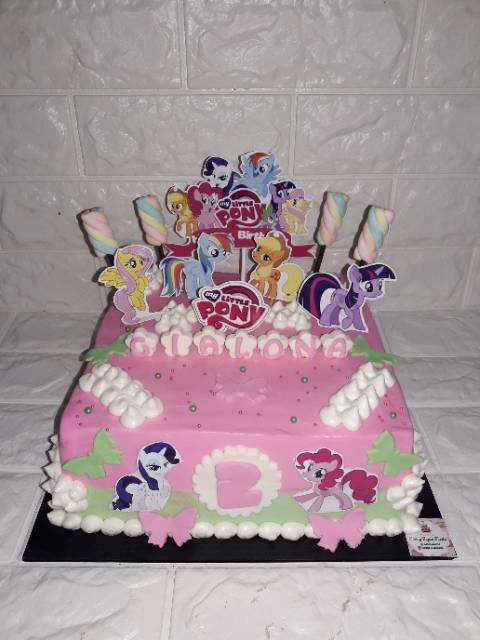 Kue Ultah Kuda Poni : ultah, Ulang, Tahun, Little, Unicorn, Topper, Marshmellow, Shopee, Indonesia