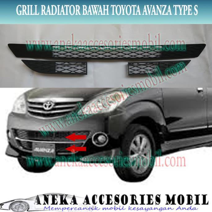 grill jaring grand new avanza harga yaris trd sportivo 2014 grille radiator bawah toyota type s shopee indonesia