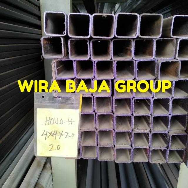harga baja ringan hollow 3x3 hollo hitam 4x4 tebal 2 0 mm 4x4x2 0mm besi