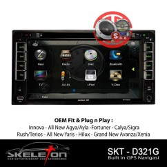 Double Din Grand New Veloz Toyota Yaris Heykers Trd Sportivo Skeleton Oem Fit Avanza 2012 2015 Shopee Indonesia