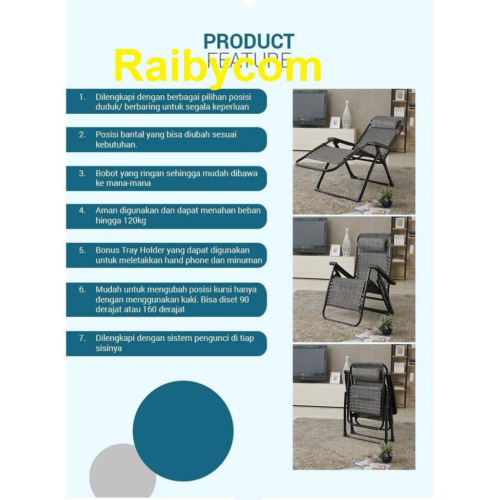 Bello Zero Gravity Chair Try Holder Alas Kursi Panjang Ori Lejel
