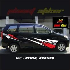 Cutting Sticker Grand New Avanza All Kijang Innova Modifikasi Stiker Mobil Xenia Type Motif Racing Kombinasi Warna Shopee Indonesia
