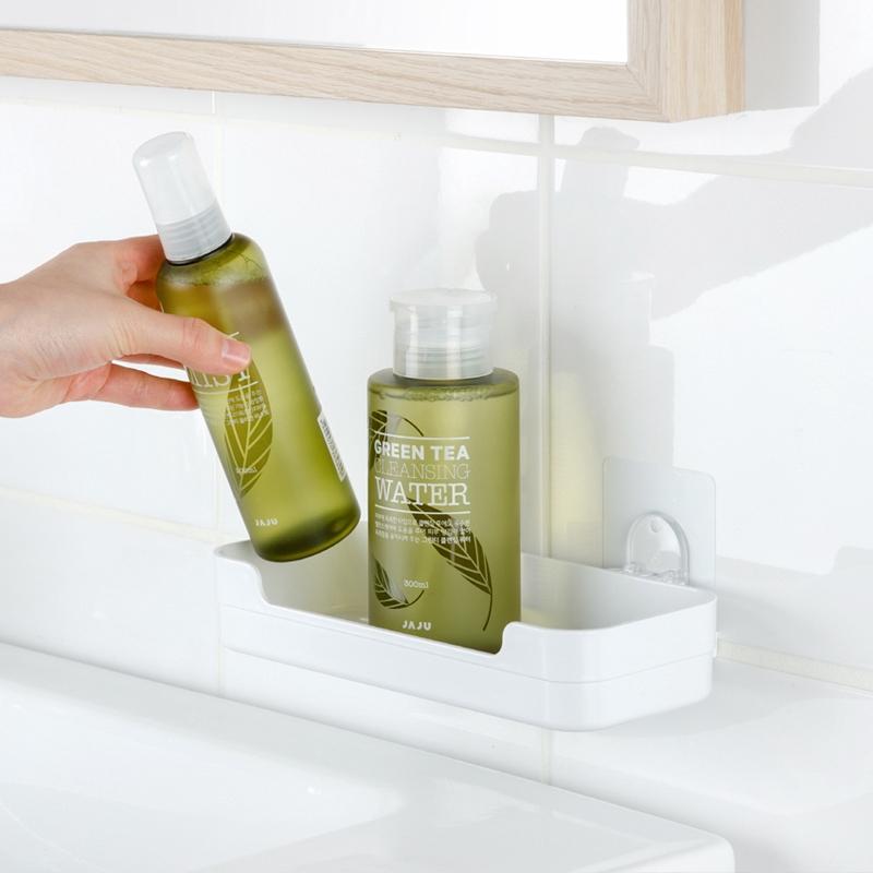 Free Perforated Suction Wall Bathroom Shelf Trace Toilet Bathroom Vanity Wall Home Storage Rack Shopee Indonesia