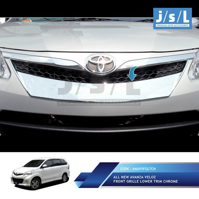 grill chrome grand new avanza toyota yaris trd manual all veloz front grille lower trim aksesoris terlaris shopee indonesia
