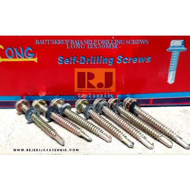 alat baut roofing sekrup skrup ruping baja ringan long 12x50mm shopee