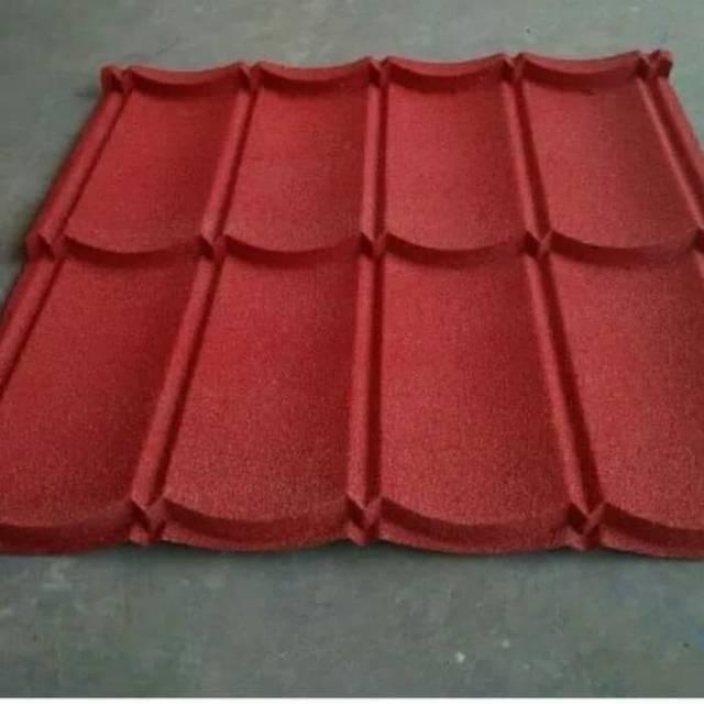 harga atap baja ringan lapis pasir genteng metal 80x80 shopee indonesia