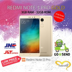 HOT XIAOMI REDMI NOTE 3 PRO GOLD 3GB / 32GB 4G LTE ROM GLOBAL GARANSI - Emas 1412