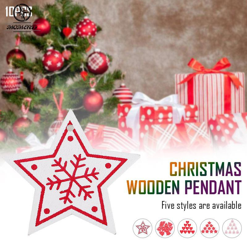 Cod Christmas Tree Pendant Christmas Tree Ornaments Christmas Decoration Indoor Hanging Wood Beautiful Novel Xmas Home Decor Supplies Gifts Mini Festive Party Shopee Indonesia