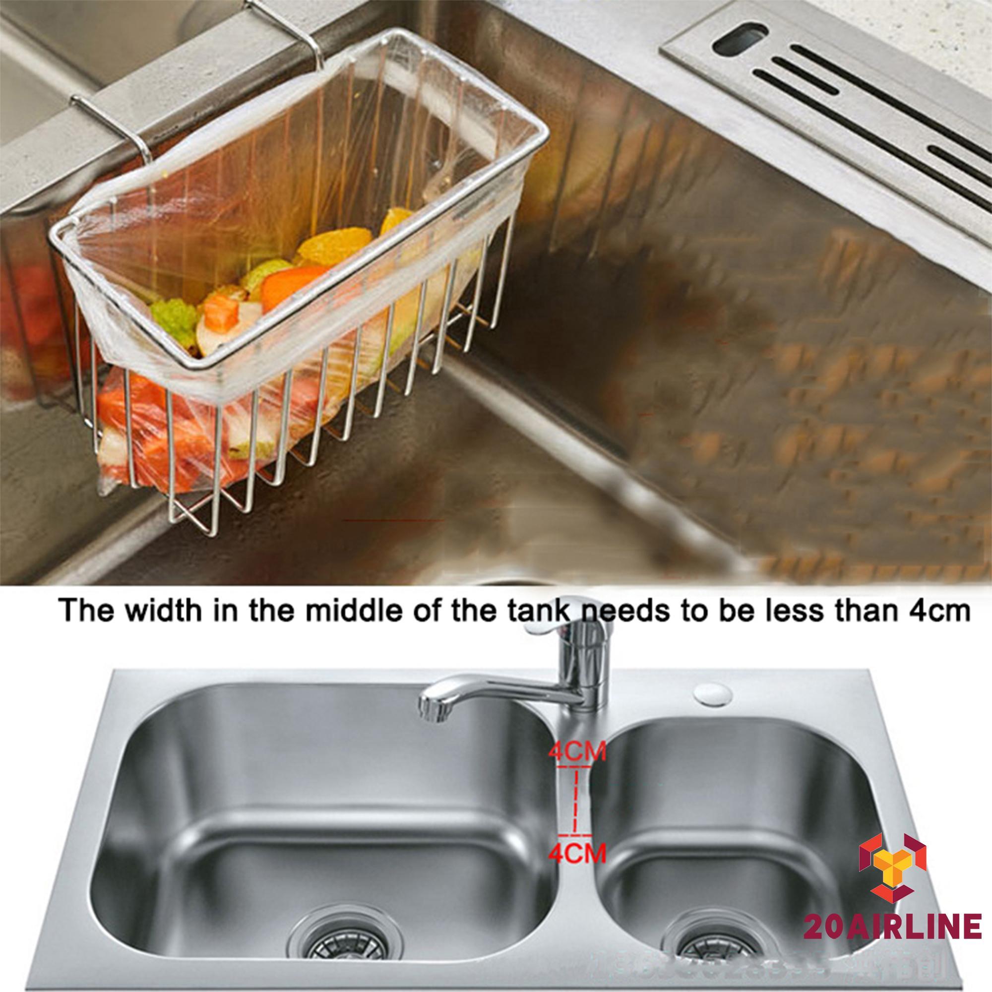 me stainless steel kitchen sponge holder sink brush caddy soap dish washing liquid drainer rack