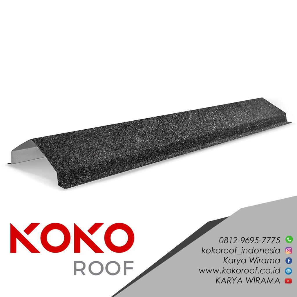 nok atap baja ringan segitiga koko roof pasir hitam atau coklat shopee indonesia