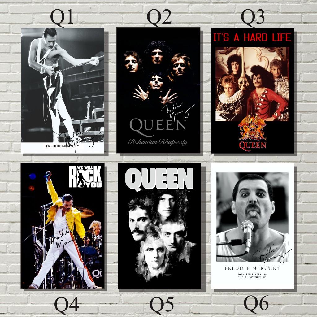 poster band queen dekorasi dinding
