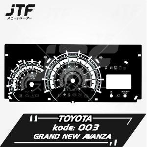 speedometer grand new veloz agya g manual trd promo variasi avanza jtf speedglow terlaris shopee indonesia