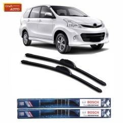Ukuran Wiper Grand New Veloz All Camry Black Mobil Frameless Sepasang 2pcs Bosch Clear Advantage Toyota Avanza 21 14 Shopee Indonesia