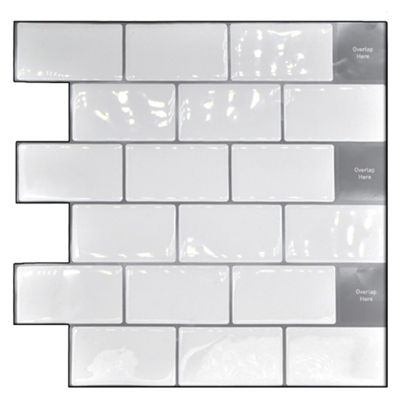 Peel And Stick Backsplash 10x10 Inch Removable 3d Subway Wall Tiles Pack Of 4 For Kitchen Or Bathroom Shopee Indonesia