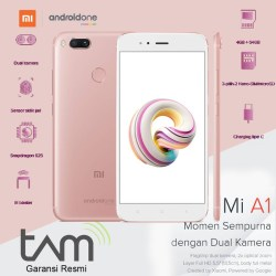 Garansi resmi TAM XIAOMI MI A1 Ram 4GB Internal 64GB  - Merah Muda