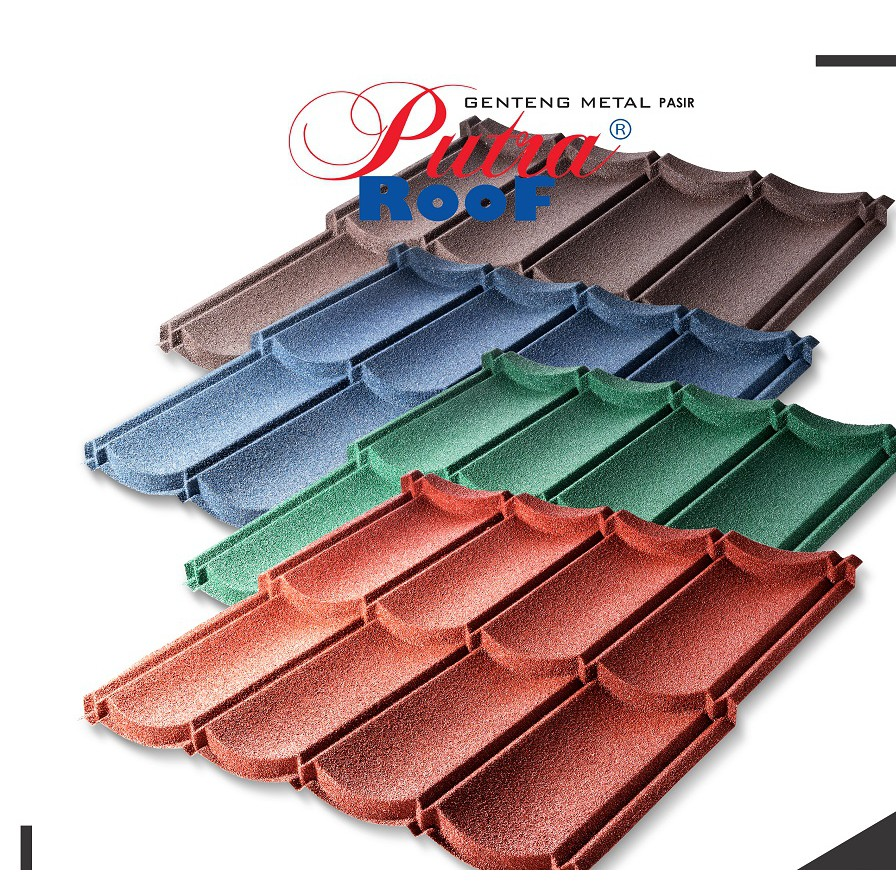 harga atap baja ringan lapis pasir genteng metal terbuat dari alumunium shopee