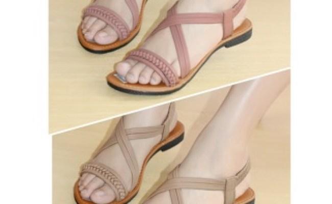 Sepatu Sandal Tali Wanita Sendal Kulit Sa031 Shopee