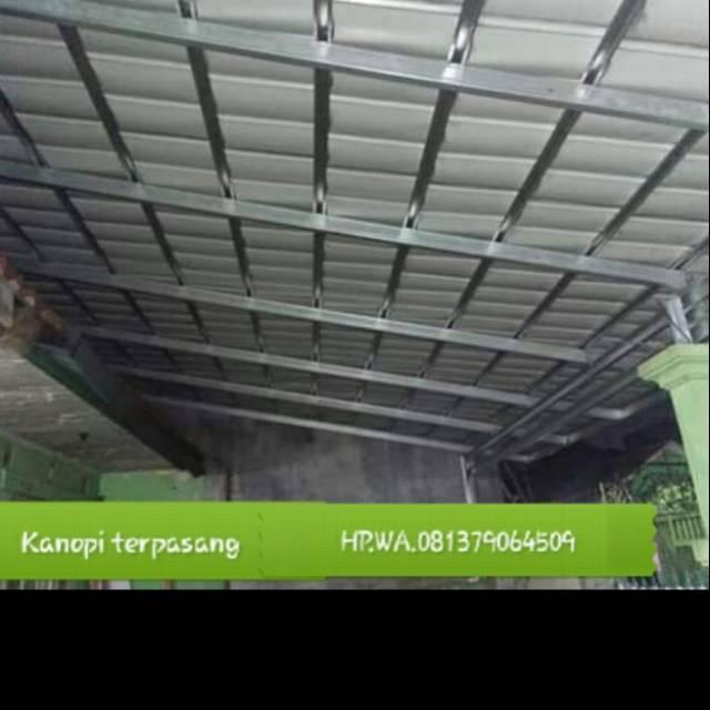 harga baja ringan merk trust terpasang kanopi spandek shopee indonesia