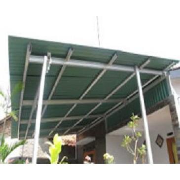 canopy baja ringan minimalis canopi atap gogreen tiang single hot