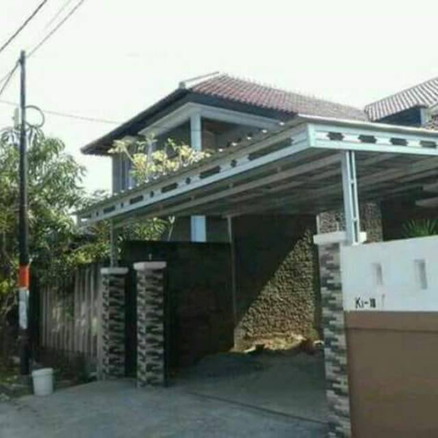 contoh kanopi baja ringan atap spandek shopee indonesia