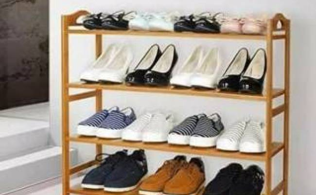 Rak Sepatu Sandal Kayu Murah Jati Jari Jari Mentah Jujur