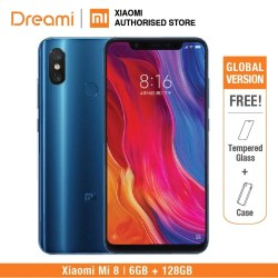 Global Version Xiaomi Mi 8 128GB Rom 6GB Rom Dual Camera Snapdragon 845 [Official Rom) mi8 128