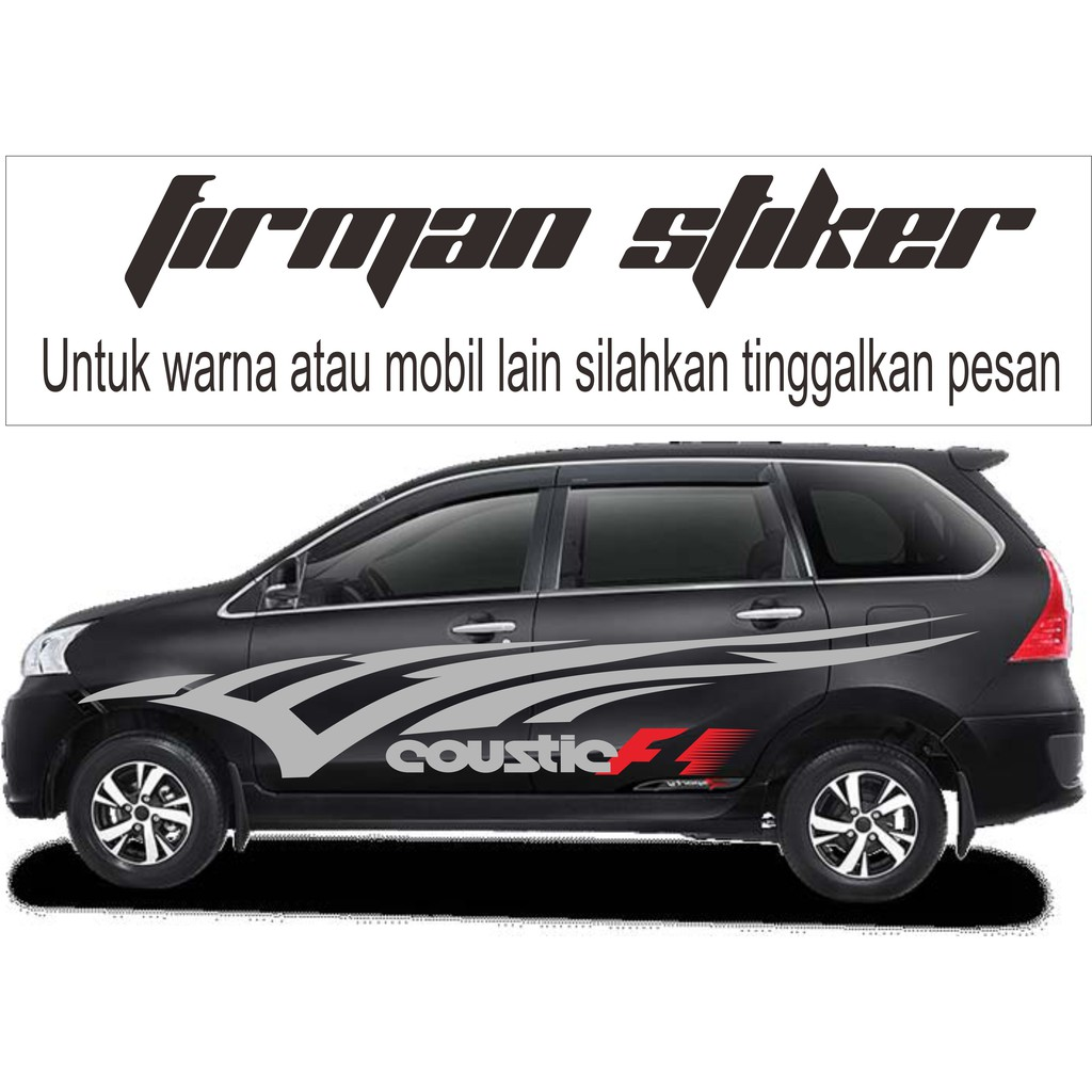cutting sticker grand new avanza suspensi stiker mobil xenia silver shopee indonesia