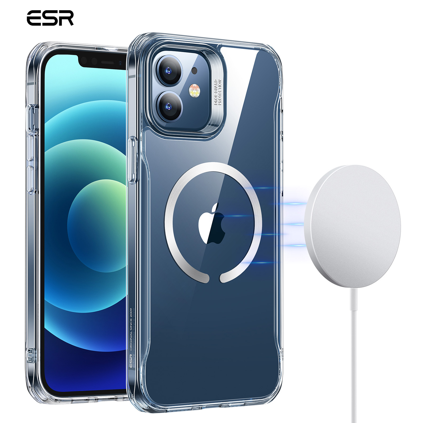 Unfortunately, this means that the magsafe charger is unable to charge iphone 12's when using a quad lock case. Esr Case Hybrid Magnetik Dengan Halolock Wireless Charging Untuk Iphone 12 12 Pro Max Shopee Indonesia