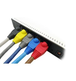 20pcs rj45 color random light universal colorful jack plug cat5 cat6 network cable end cap connector modular [ 1000 x 1000 Pixel ]