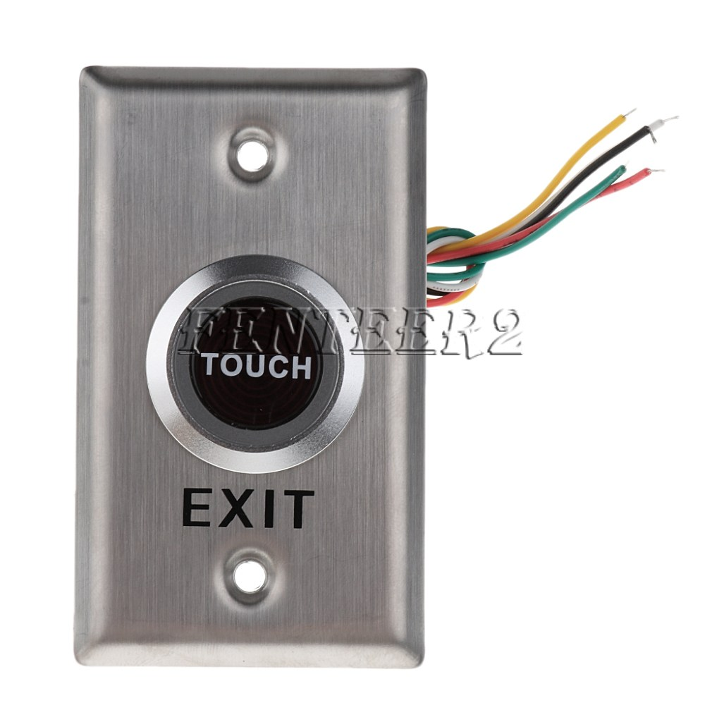 medium resolution of dc12v push exit release button switch for door access control system shopee thailand