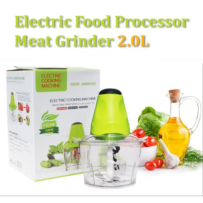 electric grinder kitchen staining cabinets darker akiro 1 5l large food chopper meat vege blender shopee malaysia