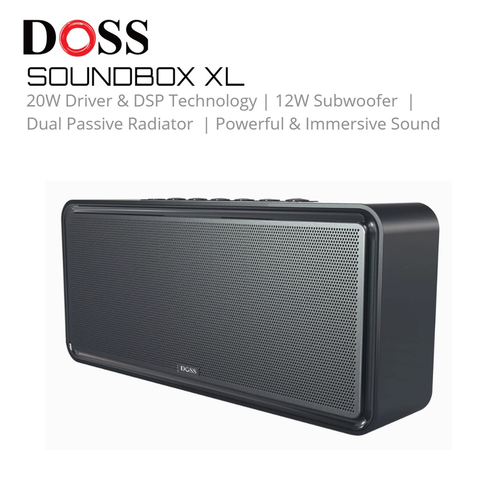 Doss Sound Box Xl Wireless Bluetooth Dual Driver Stereo Speaker Subwoofer With Stereo Pairing Upgraded Shopee Malaysia