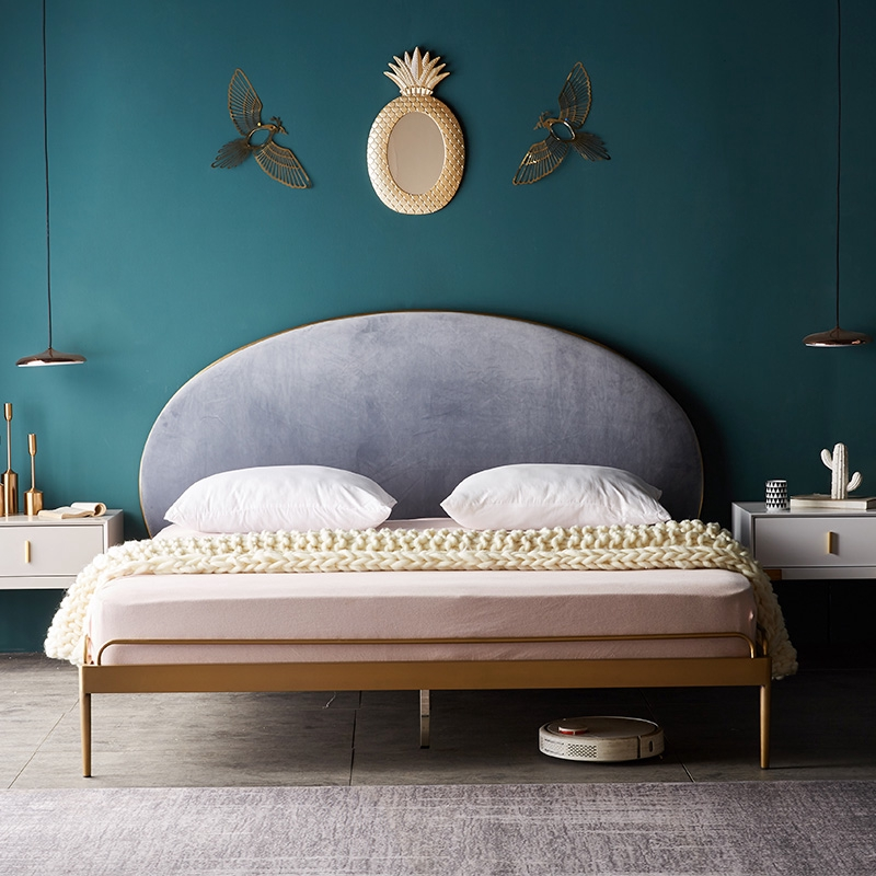 Bedroom Furniture Ins Bed Master Gold Double Iron Bed Flannelette Iron Frame Bed Shopee Malaysia