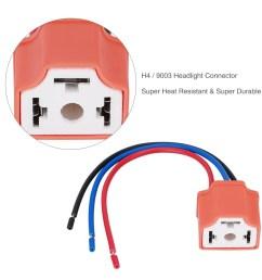 h4 9003 female headlamp wiring harness plug socket connector adapter [ 1001 x 1001 Pixel ]