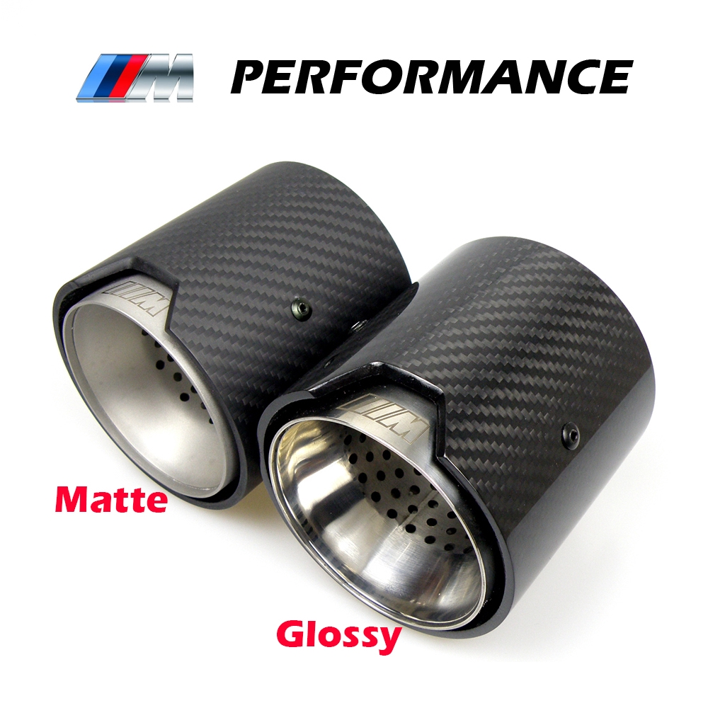real carbon fiber exhaust pipe muffler tip for bmw m performance 235i 240i 335i akrapovic exhaust tip car accessories