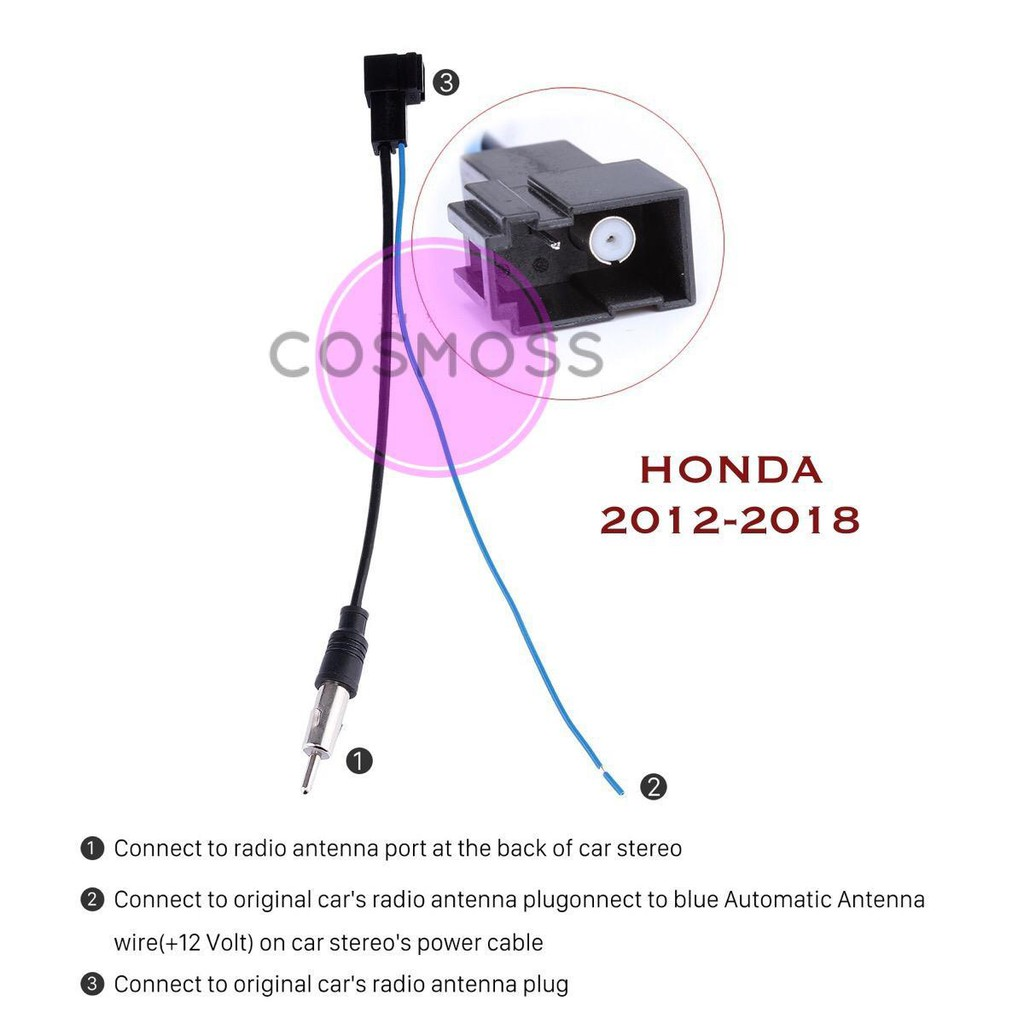 hight resolution of nissan oem plug and play radio antenna cable adapter socket shopee malaysia