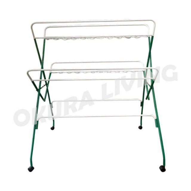 Okura Wing Hanger Cloth Laundry Dryer Rack Ampaian Pakaian