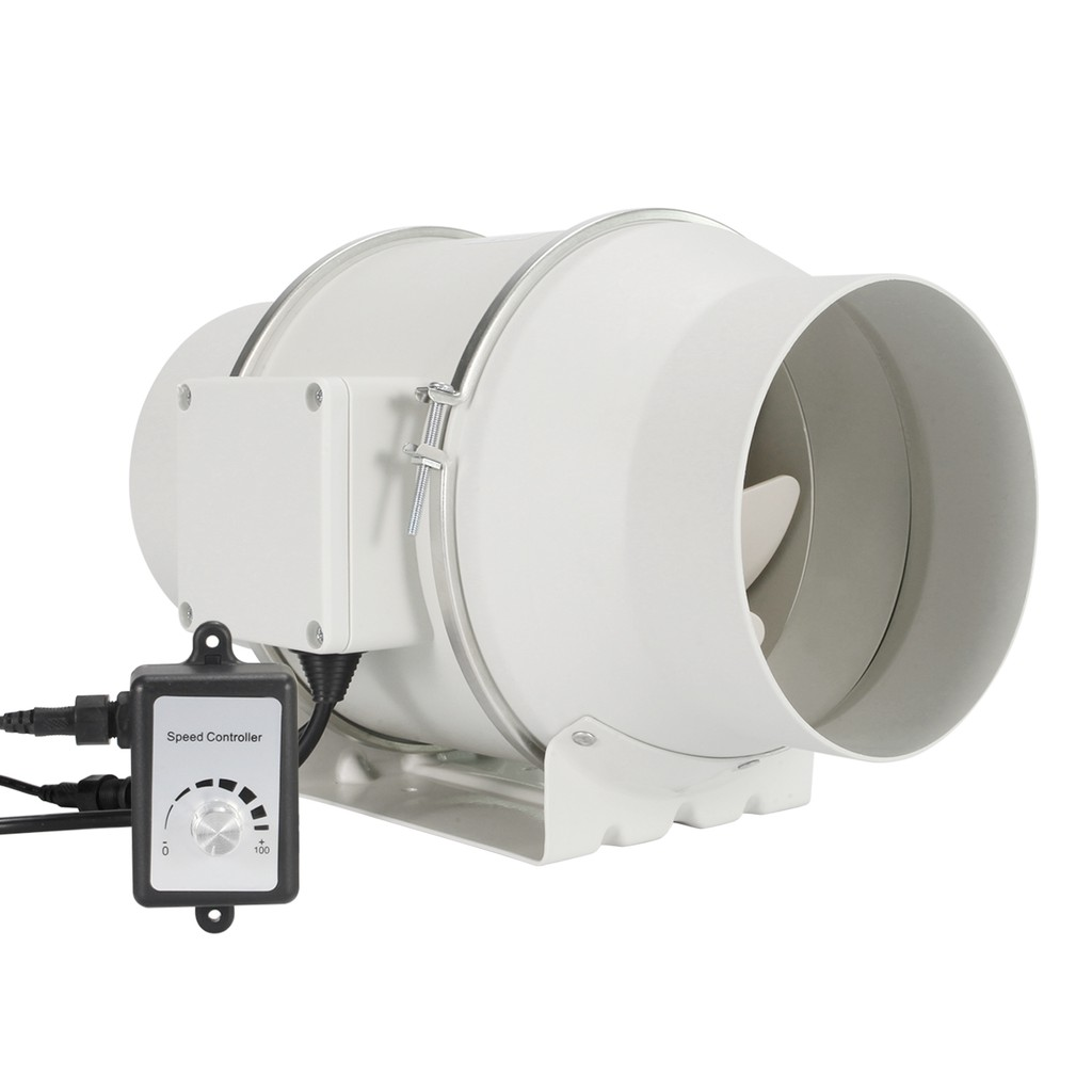 hon guan 6 inch inline duct fan with variable speed controller low noise ventilation exhaust fan for heating cooling bo