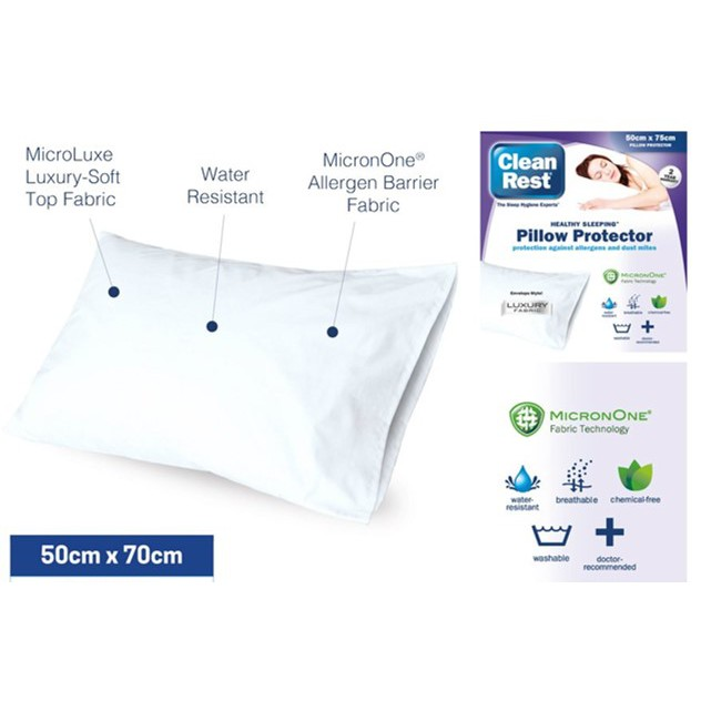 kkss cleanrest envelope style pillow protector water resistant