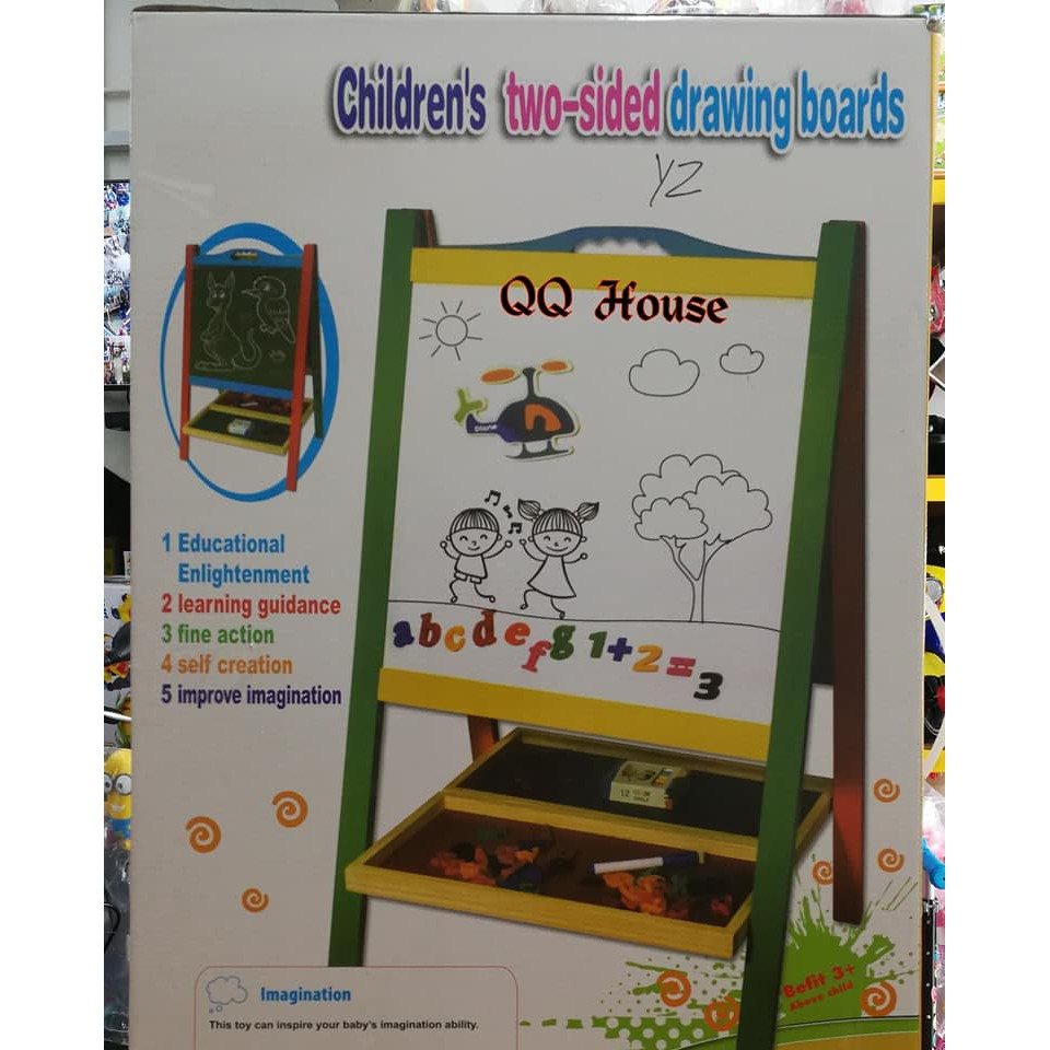 wooden wisdom toys children s two sided drawing boards