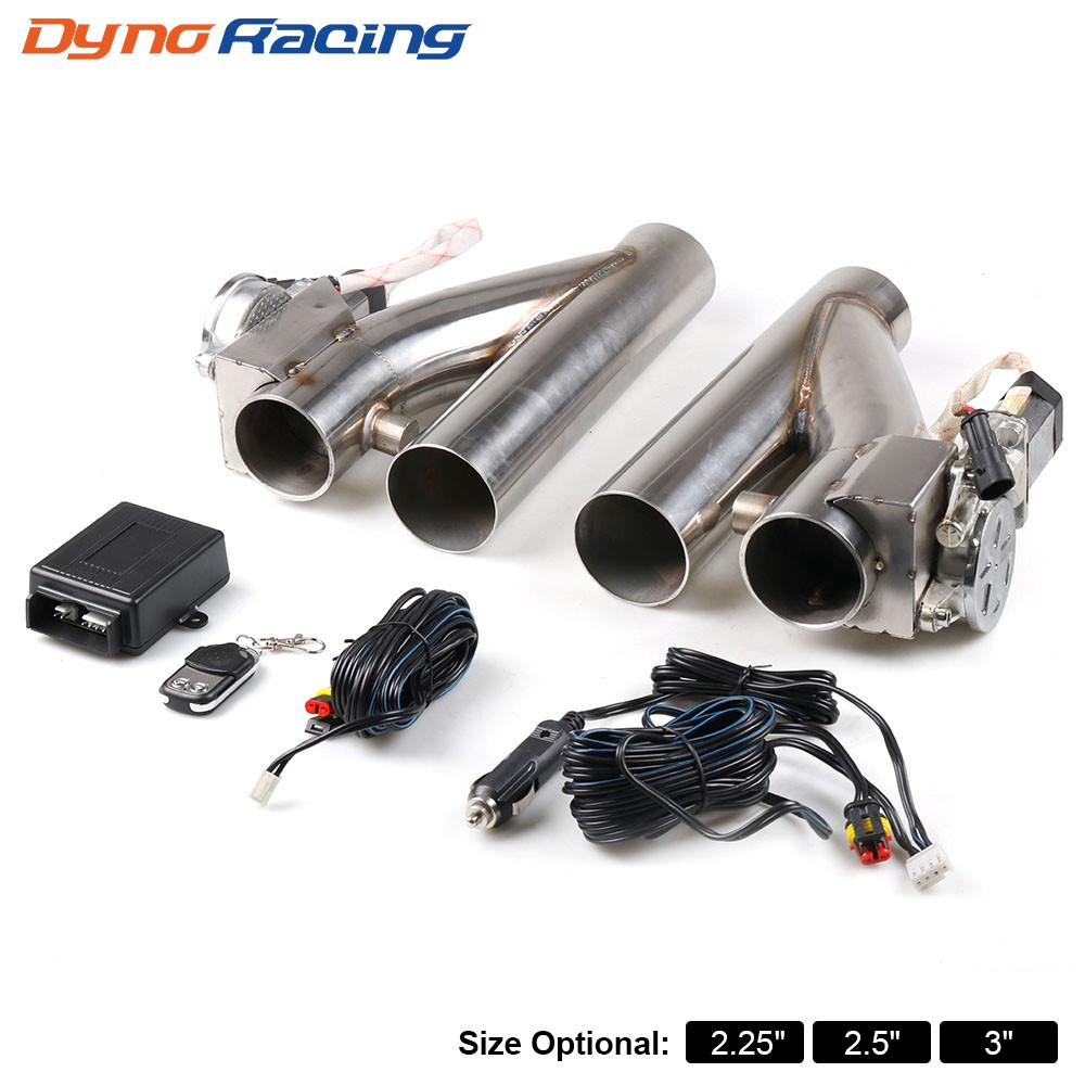 2 25 2 5 3 double exhaust control valve electric 1 drag 2 exhaust cutout kit pipe single valve with remote control