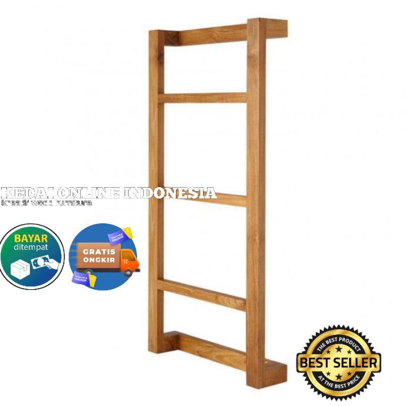 towel rack hanging ladder wooden wall mount bathroom clothesline towel